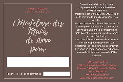 BON CADEAU MODELAGE DES MAINS