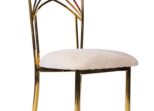 Sydney Chair gold mit weißem Polster