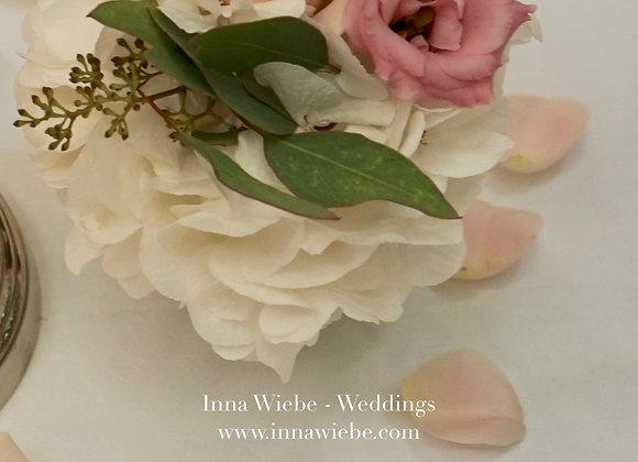 Blumensträußchen weiß/rosé/Grün
