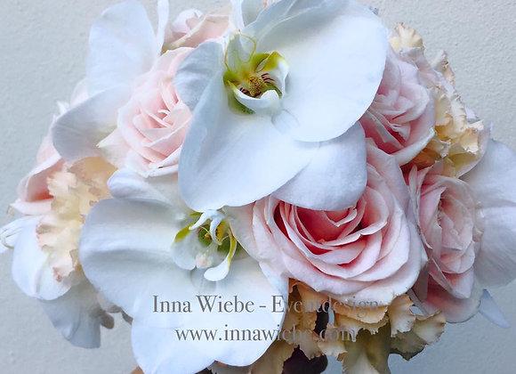 Brautstrauß Rosen Lisianthus Orchideen