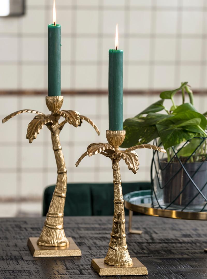 Kerzenhalter goldene Palme von Nordal