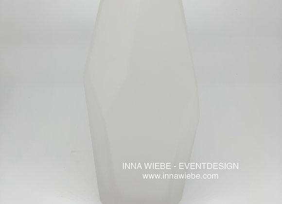Vase milchig weiß hoch