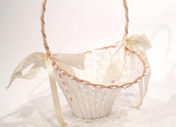 Blumenkörbchen weiß