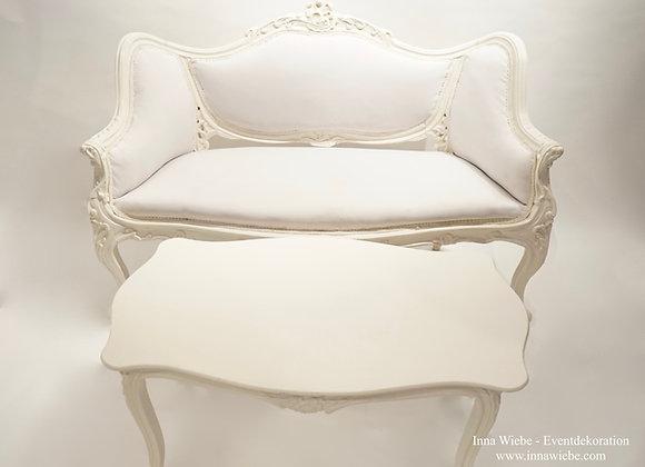 Barock Couch und Tisch