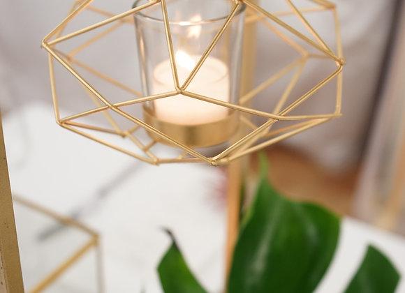 Windlicht graphisch gold mit Kette
