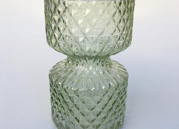 Hellgrün Glasvase Miniraute klein