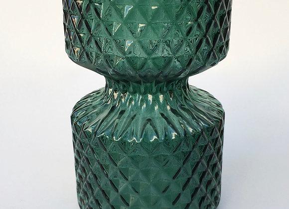 Smaragdgrün Glasvase Miniraute klein