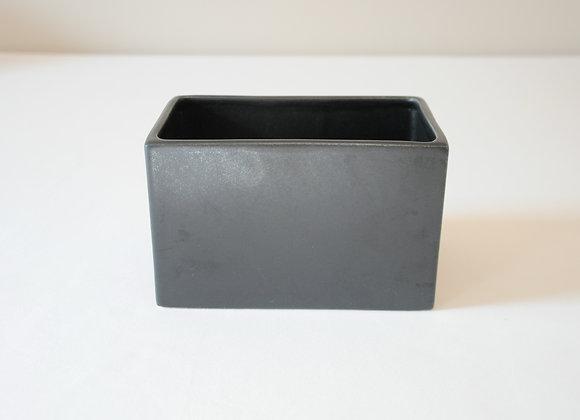 schwarze Keramikvase Rechteck
