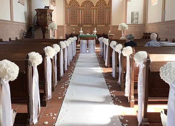 Weißer Teppich 1m Breite pro 1 lfm