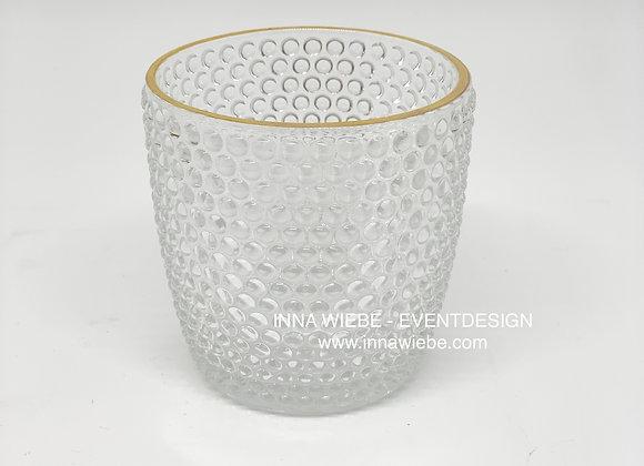 Vase / Windlicht genoppt