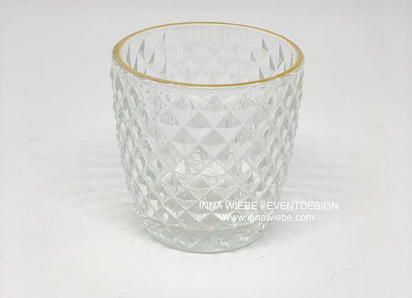 Vase / Windlicht raute klein