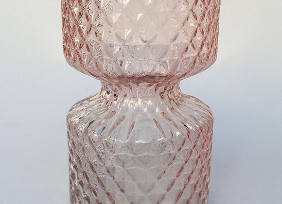 Rosé Glasvase Miniraute klein