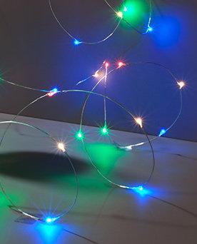 Micro Lichterkette bunt mit Batteriebetrieb (ohne Batterien)