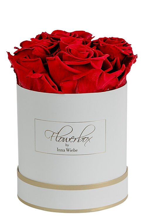 Valentine Red S Rund Weiß/Gold