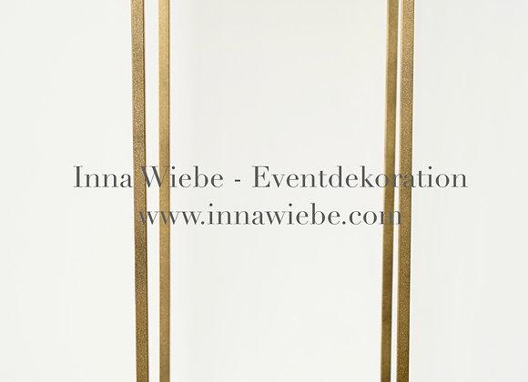 Metallsäule mattgold 1,10 m
