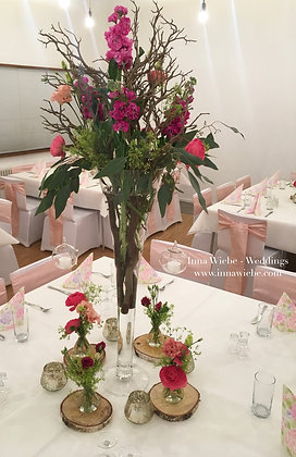 Blumen in Vase hoch