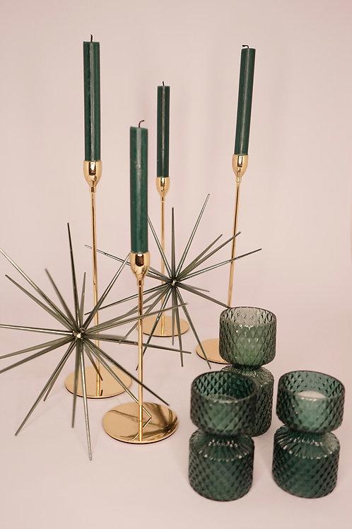 Kerzenständer 1-Arm gold glänzend