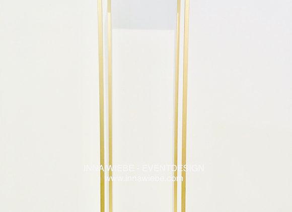 Metallsäule gold 80 cm