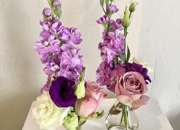 Blumenvasen hoch gesteckt