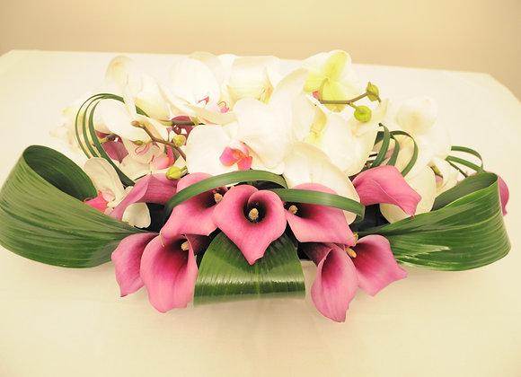 Gesteck Calla, Orchideen...