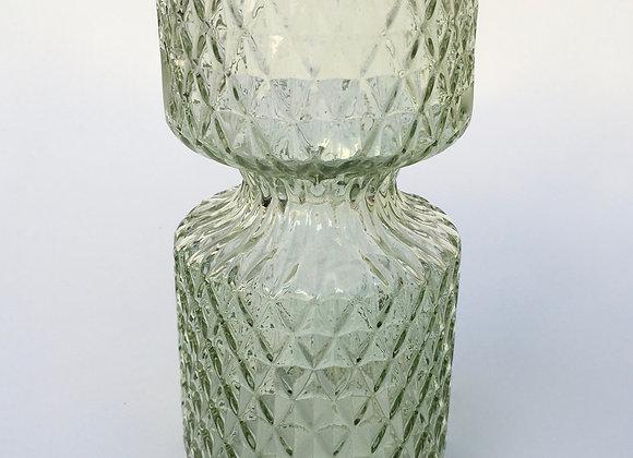 Hellgrün Glasvase Miniraute groß