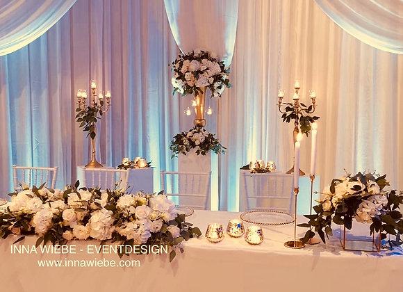 einfacher Brautpaartisch GREENERY
