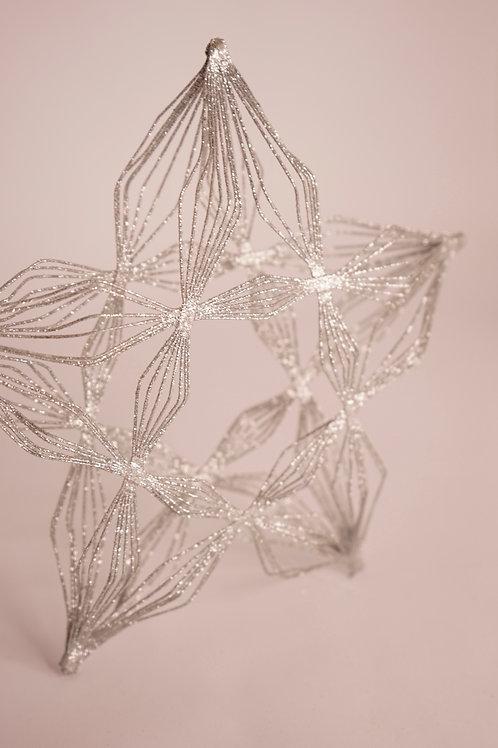 3D-Stern silber glitzern