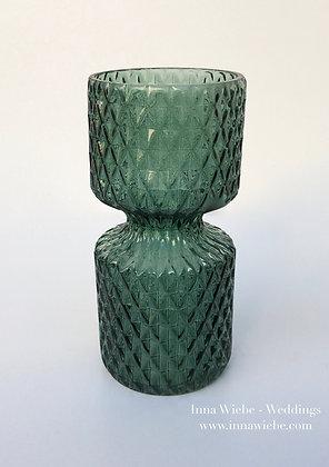 Smaragdgrün Glasvase Miniraute groß