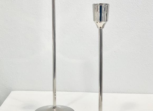 Einarm Kerzenhalter silber klein