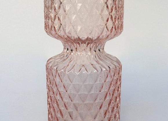 Rosé Glasvase Miniraute groß