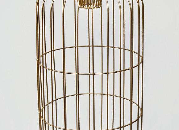 Vogelkäfig gold groß