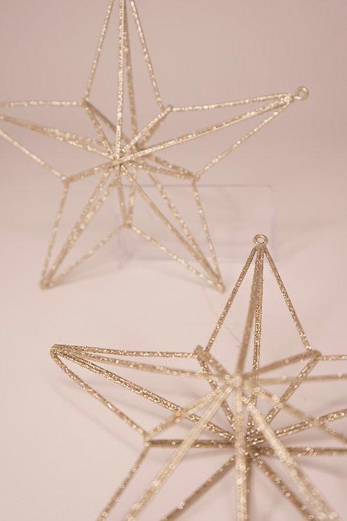 kleine 3D-Sterne silber glitzern
