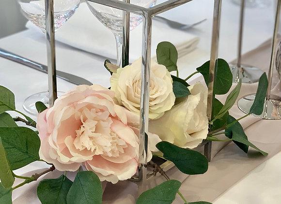 Blumenbox silber