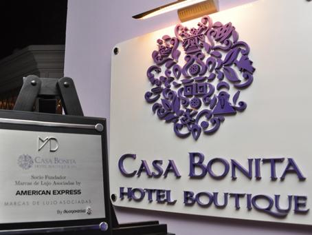 Casa Bonita Hotel Boutique & Spa Recibe Placa