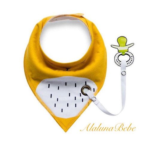 Sarı Emzik Askılı Bebek Fuları