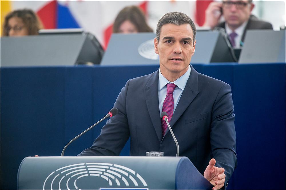 PSOE פדרו סאנצ'ס, ספרד, ראש מפלגת