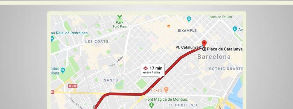 קרוב למרכז העיר ברצלונה