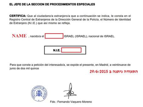 """מה הסיפור של תעודת ה-NIE בספרד  ולמה חשוב לוודא שהיא בתוקף ביום קנייה/מכירה של נכס נדל""""ן בספרד"""
