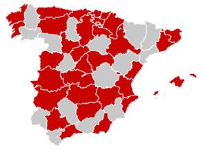 פריסת הקורונה בספרד, תחילת חודש מרץ 2020