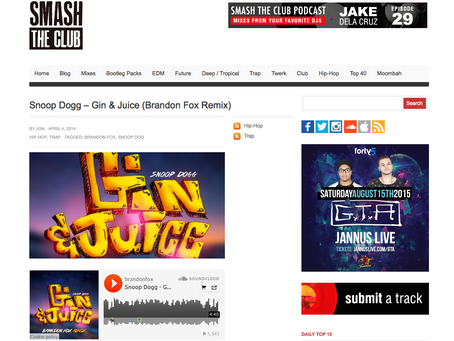 SmashTheClub feature: Gin N Juice (remix)