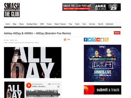 SmashTheClub feature: All Day remix