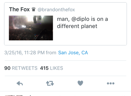 WHEN DIPLO ROCKED THE BAY THEN TWEETED ME