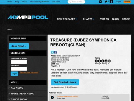 MyMp3Pool features: Treasure (remix)