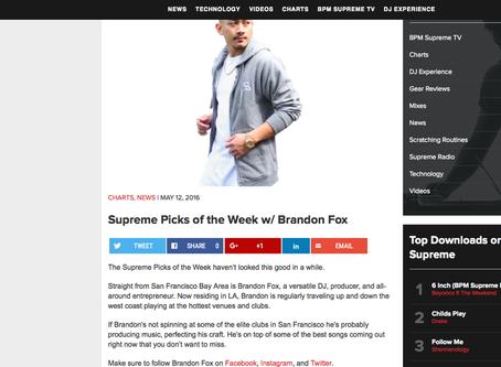 BPM SUPREME PICKS BY BRANDON FOX