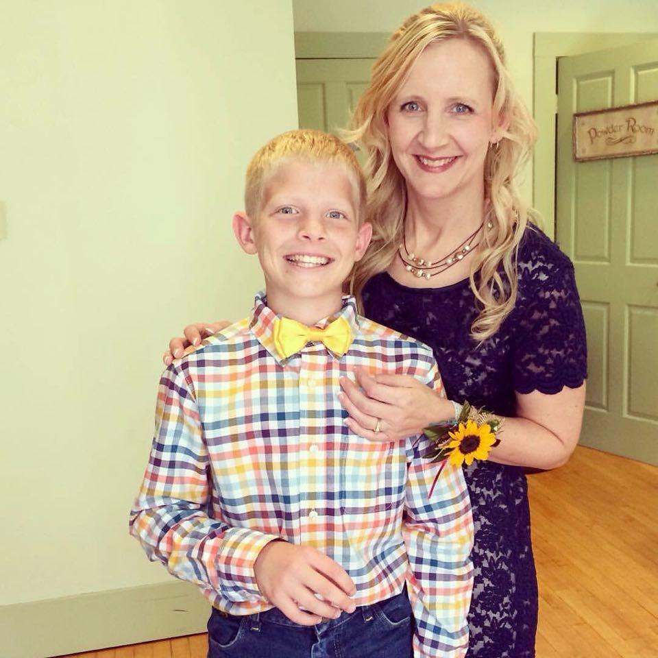 Dena and Josiah at the wedding