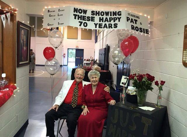 Grandma and Grandpa Rosie at their 70th anniversary party