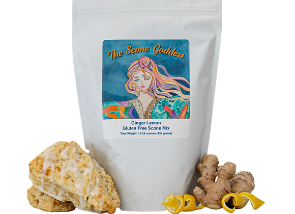 Gluten Free Ginger Lemon Premium Scone Mix