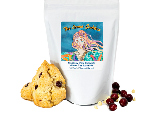 Gluten Free Cranberry White Chocolate Premium Scone Mix