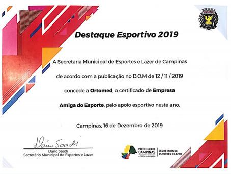 Ortomed Campinas - Empresa amiga do esporte