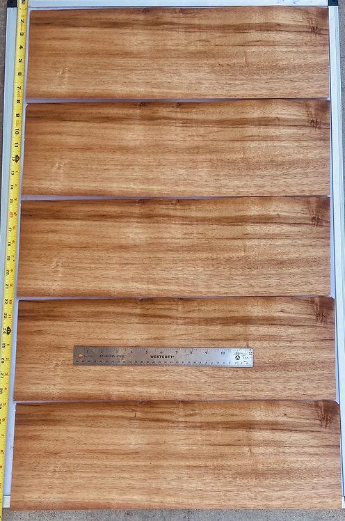 Hawaiian Curly Koa Veneer Sheet Raw Veneer Sheets - 5pcs
